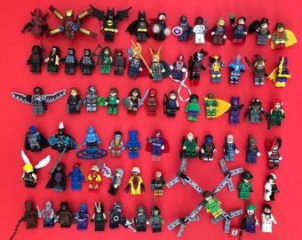 Superhero minifigures Marvel DC comic superman Spider-Man batman guardians of galaxy avengers joker wonderwoman Dr. Strange Falcon supergirl
