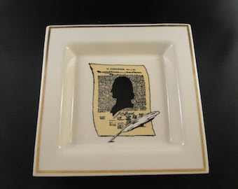 Declaration of Independence Shallow Dish or Tray Balfour Ceramic