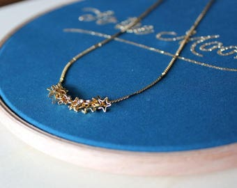 Stars necklace/ Golden necklace/ Jewel for woman