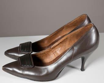 Brown High Heels Vintage