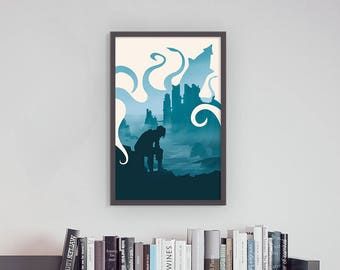 Game of Thrones Theon Greyjoy Iron Islands Kraken Art Print Silhouette Poster 11 x 17