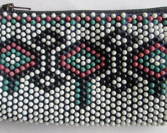 Rare Vintage Women's Wallet with beads 1960's
