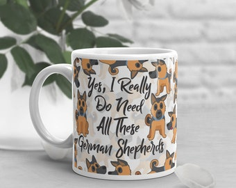 German Shepherd Coffee Mug, Cute German Shepherd Gift, Dog Lover, Gift for Her, Him, Housewarming, Birthday, Pet Mug, Dog Lover Gifts, Funny