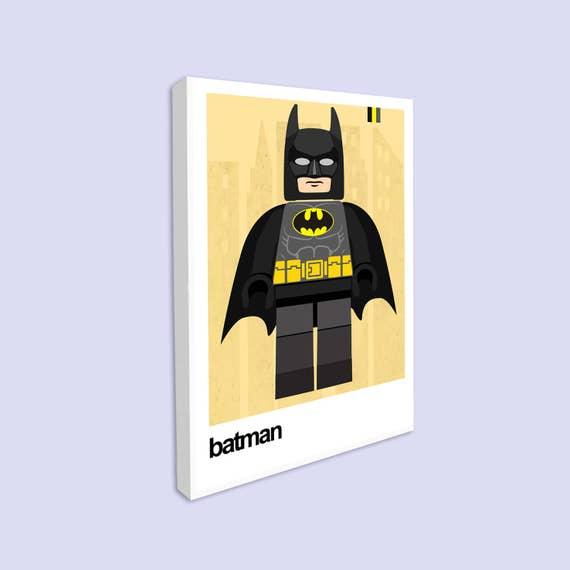 Superhero Wall Art Batman Canvas print Superhero Print Boys