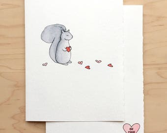 Valentine Card Squirrel Be Mine