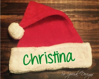 Personalized Santa Hat//Christmas Hat