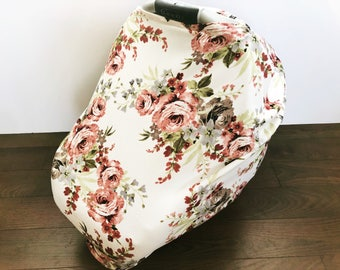All in one, Car seat cover, nursing cover, grocery cart cover