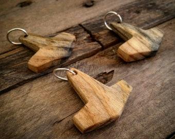 Wooden Peasant Mjolnir Pendant Necklace Thor's Hammer Mjölnir Mjollnir Keyring Heathen Viking Reenactment SCA Norse Pagan Nordic