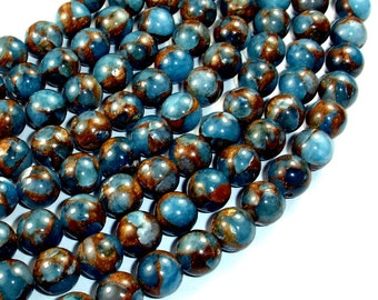 Mosaic Stone Beads, 10mm Round Beads, 15.5 Inch, Full strand, Approx 39 beads, Hole 1 mm (327054013)