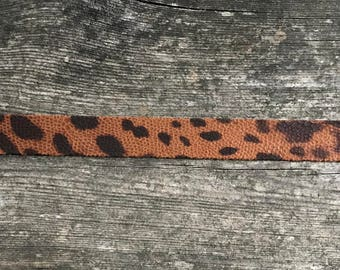 Faux Leather Leopard Choker