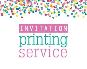 Printing Service - 5x7 Printed Invitations - Add-On Option