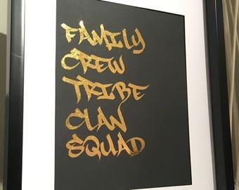 Family Crew Tribe Clan Squad Print