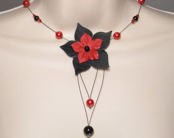 Black and Red Bridal Collection elegant - Ludivine - wedding - wedding, black red wedding jewelry, bridal necklace, wedding