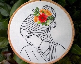 "Pattern Embroidery downloads - pdf pattern - Traditional  Embroidery Pattern PDF - Embroidery kit -  ""Serenity"""
