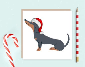 Dachshund Christmas Card - dachshund - Dog christmas card - Christmas cards - dachshund lover - ideal gift for dog lovers