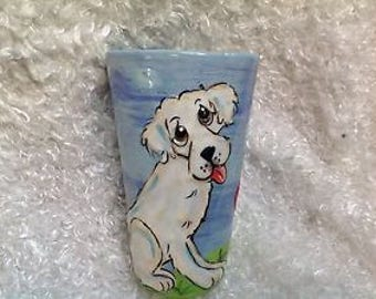 Coffee Mug / Hand Painted / Custom / Debby Carman Faux Paw Productions