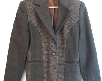 International Scene 1980's wool blazer