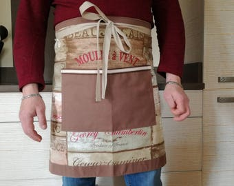 "Men Brown ""wine"" Bistro apron"
