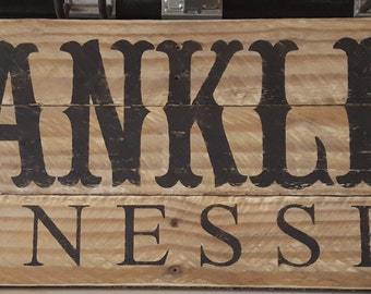 12 x 36 Reclaimed Wood Town Sign