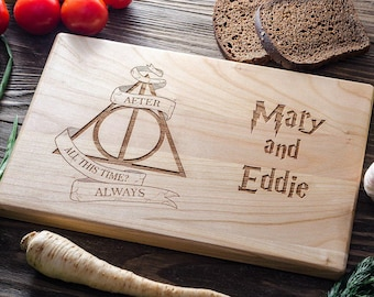 Harry PotterPersonalized Cutting Board Personalized Custom Cutting Board Wedding Gift Cutting Board Deathly Hallows Harry Potter harry01