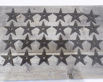 """24 Cast Iron Stars Architectural Washer Texas Lone Star Rustic Ranch 3 7/8"""" FREE SHIPPING Cowboy Western Cowgirl Craft Knick Knack LARGE"""