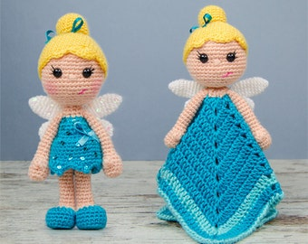 Combo Pack - Ella the Fairy Lovey and Amigurumi Set for 7.99 Dollars - PDF Crochet Pattern - Instant Download - Special Offer Pack