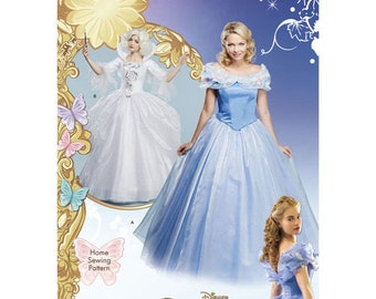 Sewing Pattern for Disney Cinderella Costumes for Misses, Simplicity Pattern 1026, Halloween Costume, Disney Fairy God Mother Costume
