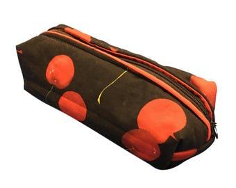 Zippered Pencil Case - Cherry