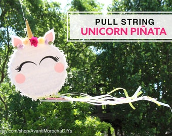 Pull String Unicorn Piñata | Birthday Party |  Candy is NOT included
