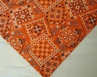Classic Orange dog cooling bandana