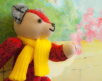 Unique Designer Created Teddy Bear - Reddy Teddy Bear
