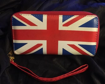 Vintage - UK Punk Clutch - Union Jack Wallet Sex Pistols Punks Pretty Vacant Crass the Clash GBH the Damned Billy Idol Discharge the Slits