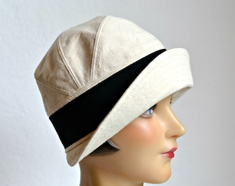 Cloche with Turned Up Brim - Women's Cloche Hat - Made to Order