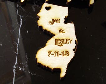 60 New Jersey State Wedding Favors