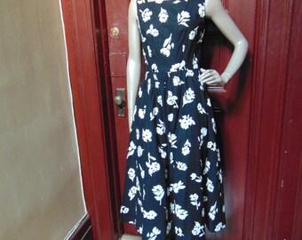 Vintage B/W Dress By Lanz