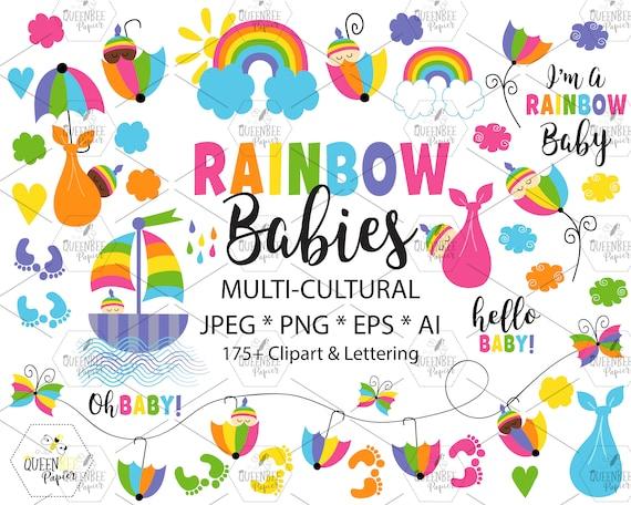 Rainbow Baby Clipart