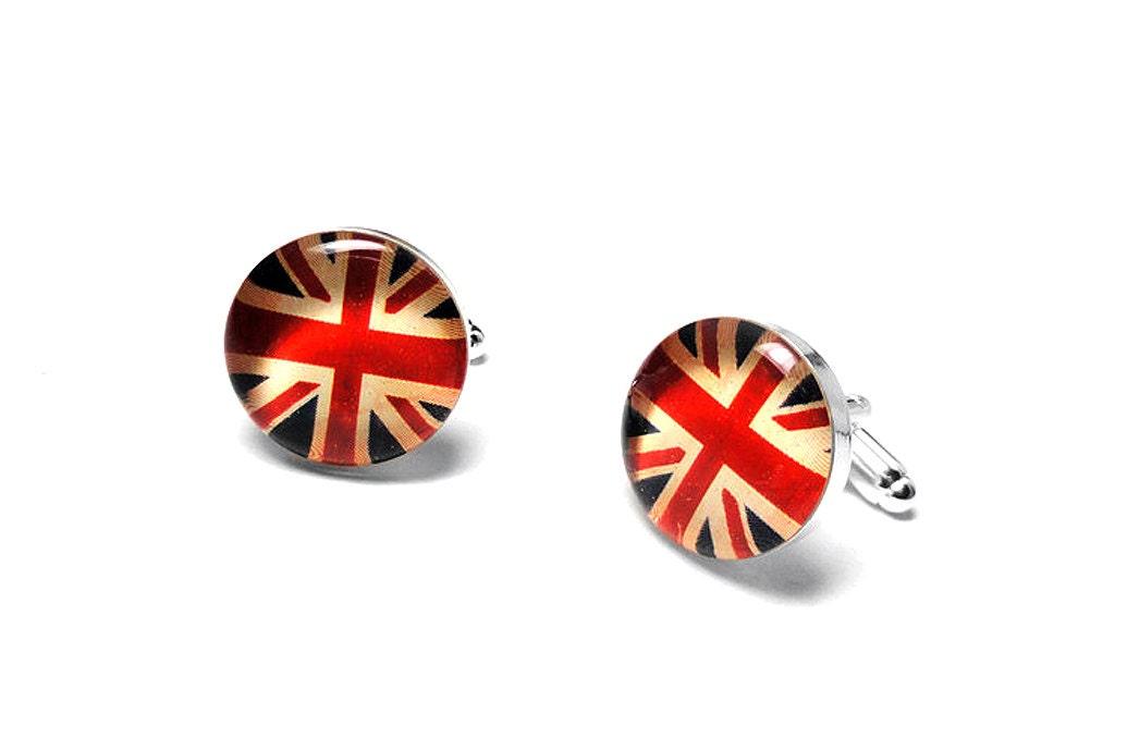 Australian Wedding Gifts: Flag Cufflinks, American, English, French, Wedding Gift