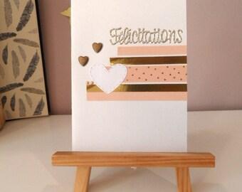 Wedding card, congratulations card, congratulations