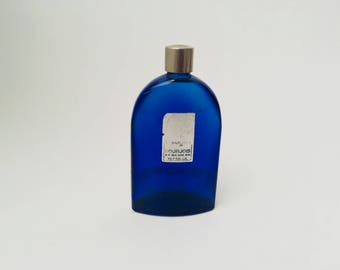 Vintage Bourjois Evening in Paris Cobalt Blue Perfume Bottle/Cobalt Blue/Bourjois Perfume/Vintage Perfume Bottle/Colored Glass Bottle
