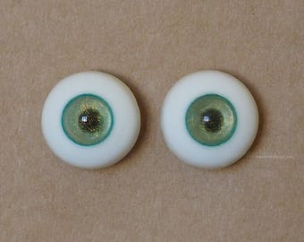 16mm Moonteahouse (Mth) Eyes - Handmade Blue / Gold Resin Eyes for BJD, ABJD and Dolls [17082]