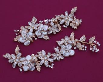 ROSE GOLD/Blush Gold or Silver Bride Hair Wreath Headpiece Vine Head Piece Accessory Accessories Weddings Bridal Wedding Prom Party Wreaths
