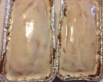 Gluten Free Iced Lemon Loaf- Regular Iced Lemon Loaf-Customizable- Gluten Free Baked Goods- Dessert Breads- Lemon Treats