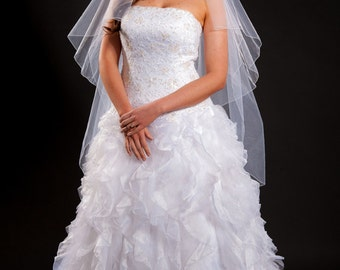 2 Layer Knee Length Veil