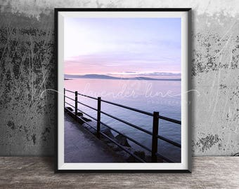 LAVENDER MOMENTS, Colour Photography Print, Coastal Photography, Dreamy Sunset, Beach, Holywood, Wanderlust, Northern Ireland, Wall Art