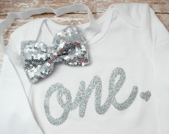 Ready To Ship - 6-12 Months - Girls First Birthday Shirt - Girls 1st Birthday - One Birthday - First Birthday Bodysuit - 1st Birthday Outfit