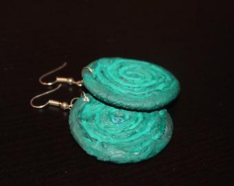 Turquoise love earrings