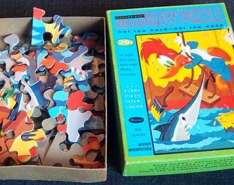 Woody Woodpecker Jigsaw Puzzle-- 1960