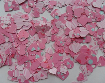 pink mix heart table confetti
