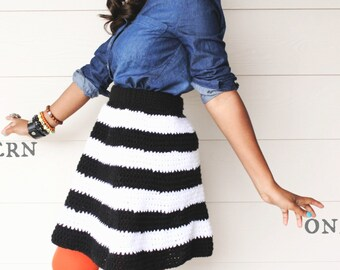 Striped Crochet Skirt Pattern.