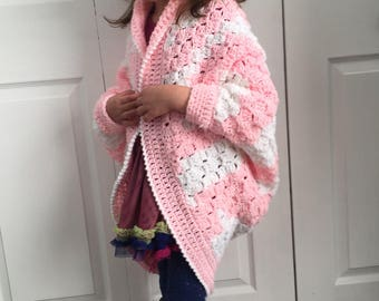 Zebra Print Shrug, Child Shrug pattern, Crochet Pattern, C2C Graph